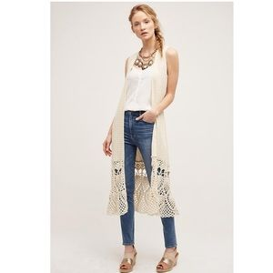 Anthropologie Garden Crochet Duster